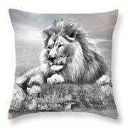 Lion Resting  Throw Pillow