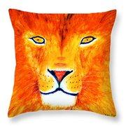 Lion Selfie Color Pop Throw Pillow