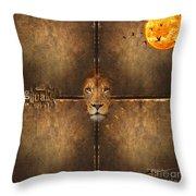 Lion Sun Throw Pillow