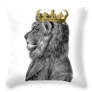 Lion The King Of The Jungle Throw Pillow
