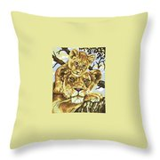 Lioness And Son Throw Pillow