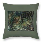 Lioness' Den Throw Pillow