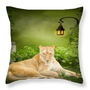 Lioness Dream Throw Pillow