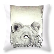 Lioness Rising Throw Pillow