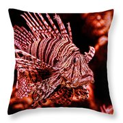 Lionfish Of The Sea Throw Pillow