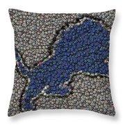 Lions Bottle Cap Mosaic Throw Pillow by Paul Van Scott