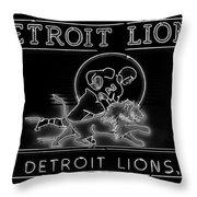 Lions Football Throw Pillow