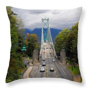 Lion's Gate Bridge Throw Pillow