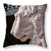 Lion's Gaze Throw Pillow by Todd Blanchard