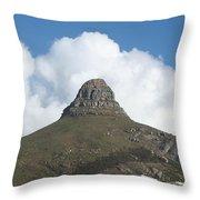 Lion's Head Cape Town Throw Pillow
