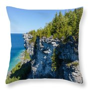 Lions Head Limestone Cliffs Throw Pillow