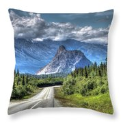 Lion's Head Mountain Throw Pillow