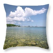 Lion's Head - Summer Afternoon On The Dock Throw Pillow