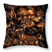 Lions Roar Throw Pillow