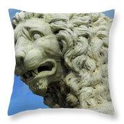 Lions Roar Throw Pillow