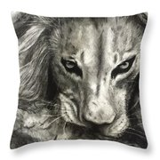 Lion's World Throw Pillow