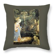 Lippi  Fra Filippo Painting Year1463 Throw Pillow