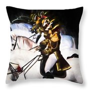 Lippizan Row Throw Pillow