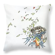Lips Peeled Back Throw Pillow