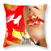 Lips Radiance Throw Pillow