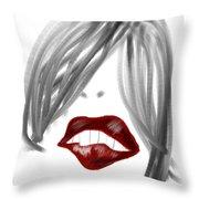 Lips Too Throw Pillow