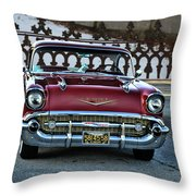Lipstick Red At The Gate Throw Pillow