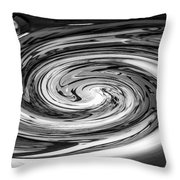 Liquefied Graffiti In Black And White Throw Pillow