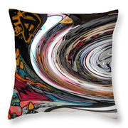 Liquefied Graffiti Throw Pillow