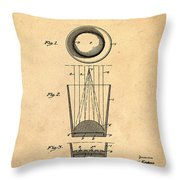 Liquershot Glass Patent 1925 Sepia Throw Pillow