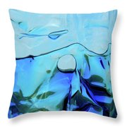 Liquid Abstract  #0059 Throw Pillow