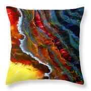Liquid Abstract Fifteen Throw Pillow