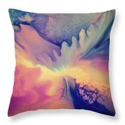 Liquid Abstract Nebula Throw Pillow