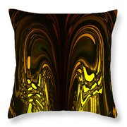 Liquid Aurora 5 Throw Pillow