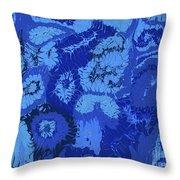 Liquid Blue Dream - V1lle30 Throw Pillow