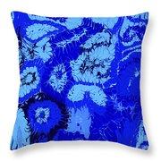 Liquid Blue Dream - V1vhkf100 Throw Pillow