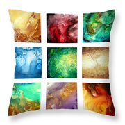 Liquid Color I By Madart Throw Pillow