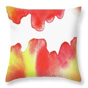 Liquid Fire Watercolor Abstract II Throw Pillow