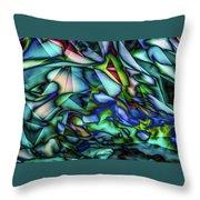 Liquid Geometric Abstract Throw Pillow