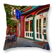 Liquid In Mobile Alabama Throw Pillow