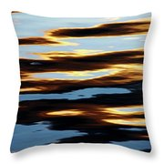 Liquid Setting Sun Throw Pillow