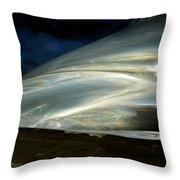 Liquid Silver Throw Pillow