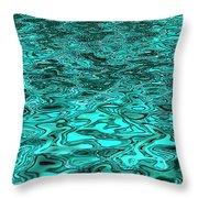Liquid Teal Throw Pillow