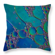 Liquid Turquoise River Stone  Throw Pillow