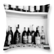 Liquor Bottles Throw Pillow