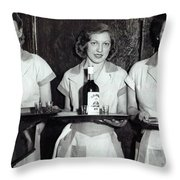 Liquor Is Served - Prohibition Ends 1933 Throw Pillow