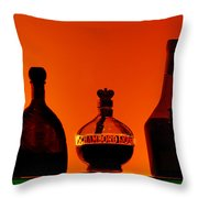 Liquor Still Life Throw Pillow