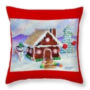 Lisa's Gingerbread House Throw Pillow