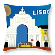 Lisboa Lisbon Portugal Horizontal Scene Throw Pillow