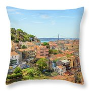 Lisbon Aerial View Throw Pillow