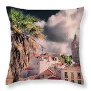 Lisbon Cityscape 4 Throw Pillow